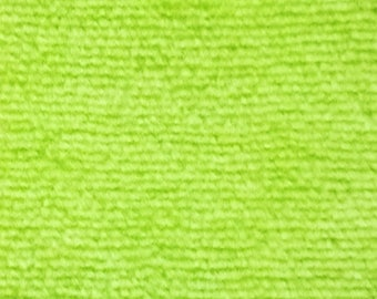 Lime Green Cotton Velour fabric by the yard