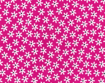 Pink Daisies Cotton Poplin Print