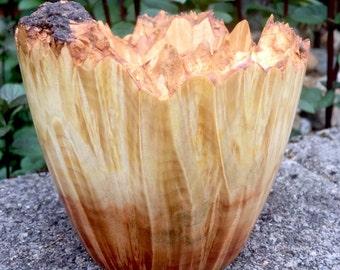 Flaming Box Elder Burl Bowl