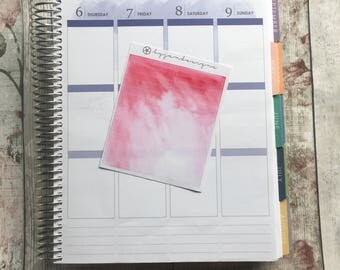 Red Watercolour Headers, Planner Stickers for use with ERIN CONDREN LIFEPLANNER™, Happy Planner, Plum Paper Planner