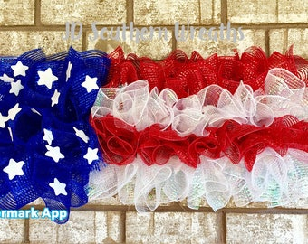 American Flag, Patriotic Wreath, Memorial Day Wreath, 4th of July Wreath, Americana Wreath