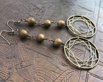 Gold Dream-caster & Druzy Adornments