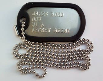Dog Tags With Engraving With Your Text For Free. Army Style ID Tag