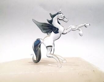 Glass Pegasus Figurine