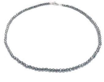 Silver Hematite Choker