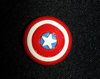 Captain America Shield-American Flag Heart-Spiderman Strong 1lb Magnets