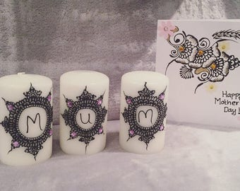 Mother's Day candle set with card