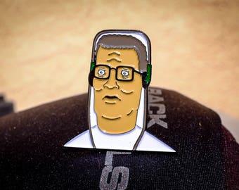 Hank Hill Headphones Enamel Pin