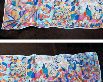 No. 2013 hand painted silk scarf