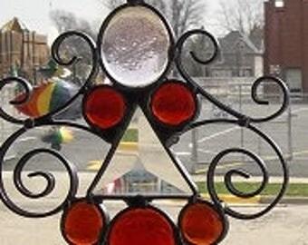 kino/suncatcher art/colored glass/window decor
