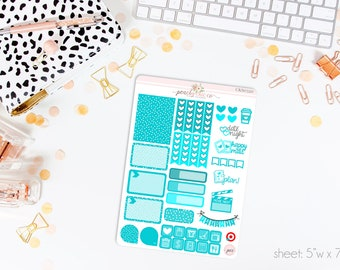 Sky BRIGHT Colorful Sampler Kit // 40+ Matte Planner Stickers // Perfect for your Erin Condren Life Planner // CKS320