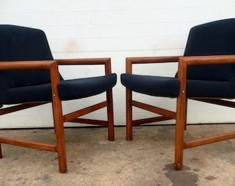 Mid Century Danish Teak Lounge Chairs