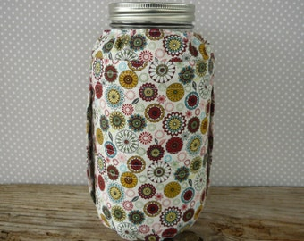 Half gallon ball canning jar cover/half gallon jar cozy/fabric jar cover