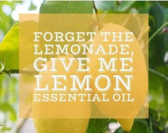 Give me Lemon Essential Oil-digital download jpg
