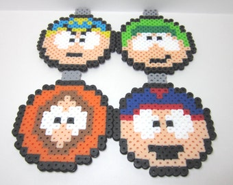South Park Themed Perler Ornament Set Of 4