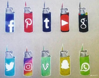 Social Media lighters