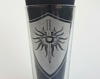 Etched Dragon Age Inqusition  16oz Pub Glass