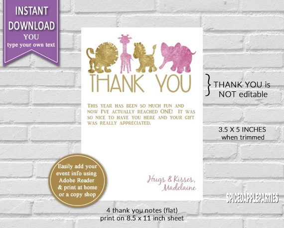 thank you card birthday thank you thank you cards printable