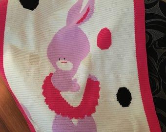 Baby bunny cot blanket/wall blanket