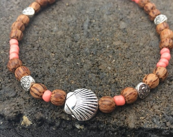 Beach Anklet, Boho Anklet, Sea Shell Anklet, Ankle Bracelet, Beach Jewelry, Beaded Anklet, Ankle Jewelry, Anklet