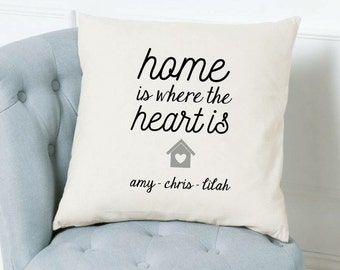 Home Is Where The Heart Is Cushion Cover