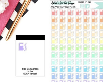 Pastel Gas Pump Planner Stickers