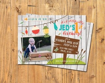 FISHING BIRTHDAY INVITATION | Catch of the Year | Fisherman Birthday Party