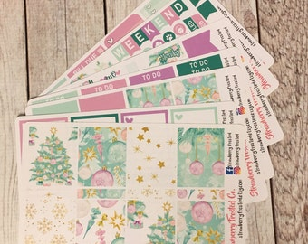Christmas Tree Themed Kit---- Weekly Planner Kit ---- {Includes 250+ Stickers}