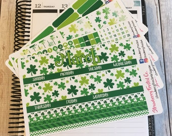 March---- Monthly Planner Kit ---- {Includes 165+ Stickers}