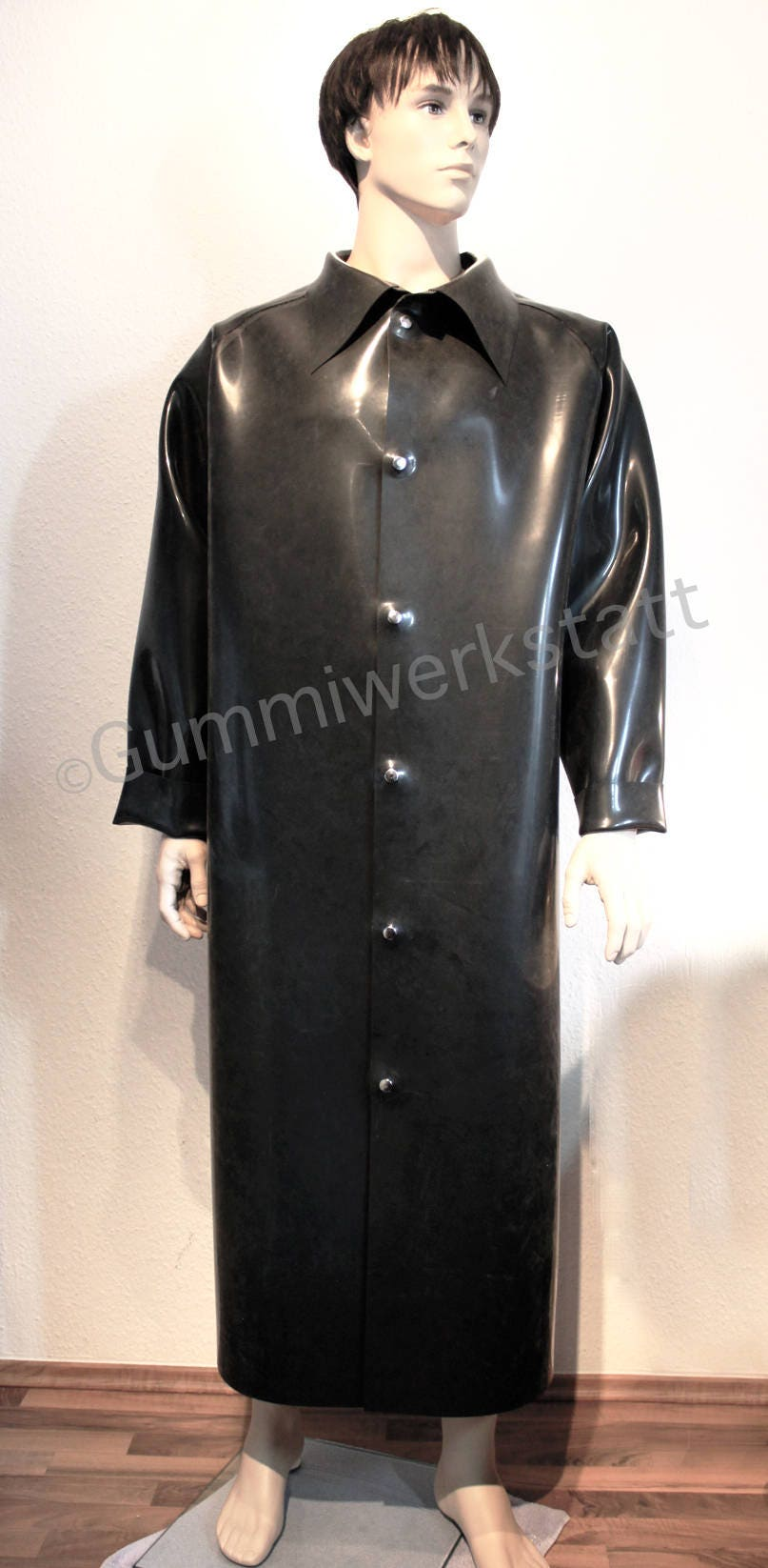 rubber coat raincoat macintosh with collar