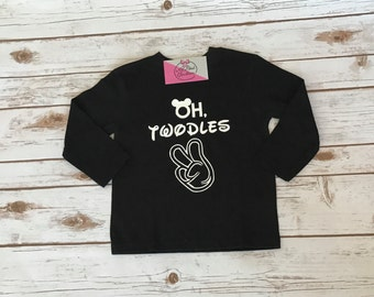 Second birthday mickey mouse shirt - oh twodles - toddler - second birthday shirt - mickey mouse second birthday