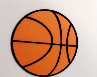 12 Large Basketball Paper 4x4 Cutout/ birthday party sport/ Ball