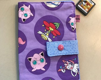 Girls Pokemon Cotton Fabric Nintendo DS / 3DS / 3DS XL  Carrying  Case / Electronic Case Gift