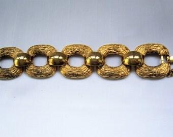 Vintage Monet chain metal bracelet, 1980's