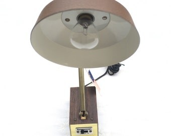 Vintage Tenson Folding Arm Desk Lamp, with original tags