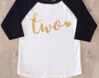 Two Birthday Girl Shirt/Girl Birthday Shirt/Second Birthday/Two Birthday/Second Birthday Shirt/2nd Birthday T-shirt