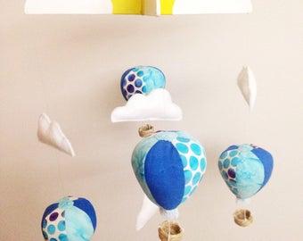 Blue Hot Air Balloon Mobile