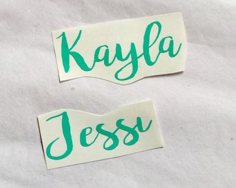 Name Decal - Vinyl Name Decal - My Name Decal - Yeti Decal - Yeti Name Decal