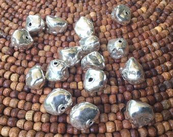 Sterling Silver Pebble Beads