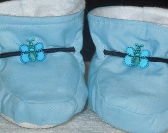 Blue Butterfly Boy/Girl Baby Booties