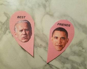 Obama and Biden Best Friends Stickers