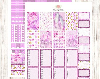 Watercolor Ballet Stickers For Happy Planner {INSTANT DOWNLOAD}