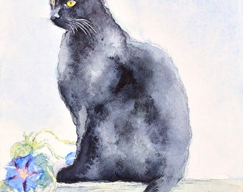 Cat No15 family water color