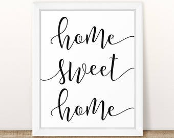 Home Sweet Home Wall Art home wall decor | etsy