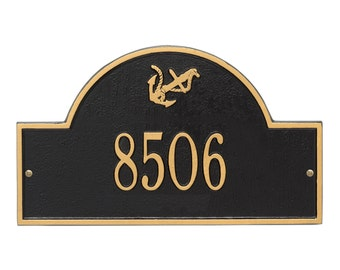 Anchor Arch One Line Personalized Address Plaque