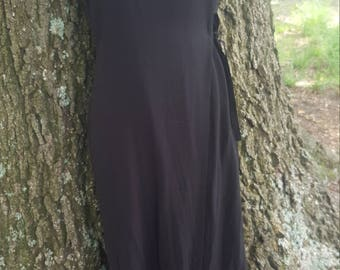 Vintage Maxi Black Wrap Dress