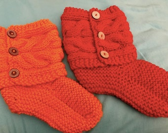 Ladies Cabled Slippers