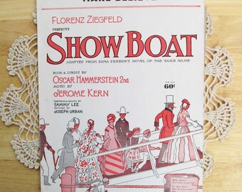 Show Boat Sheet Music, Musical Theater, 1920s, Broadway Show, Vintage Music