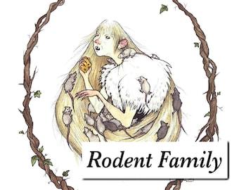 Rodent Family - High Quality Fine Art Print - Albrecht Dürer Paper