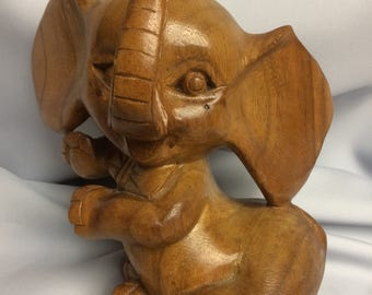Hand carved Elephant/Philippines